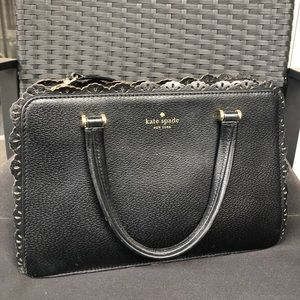 Kate Spade Black Scalloped Purse